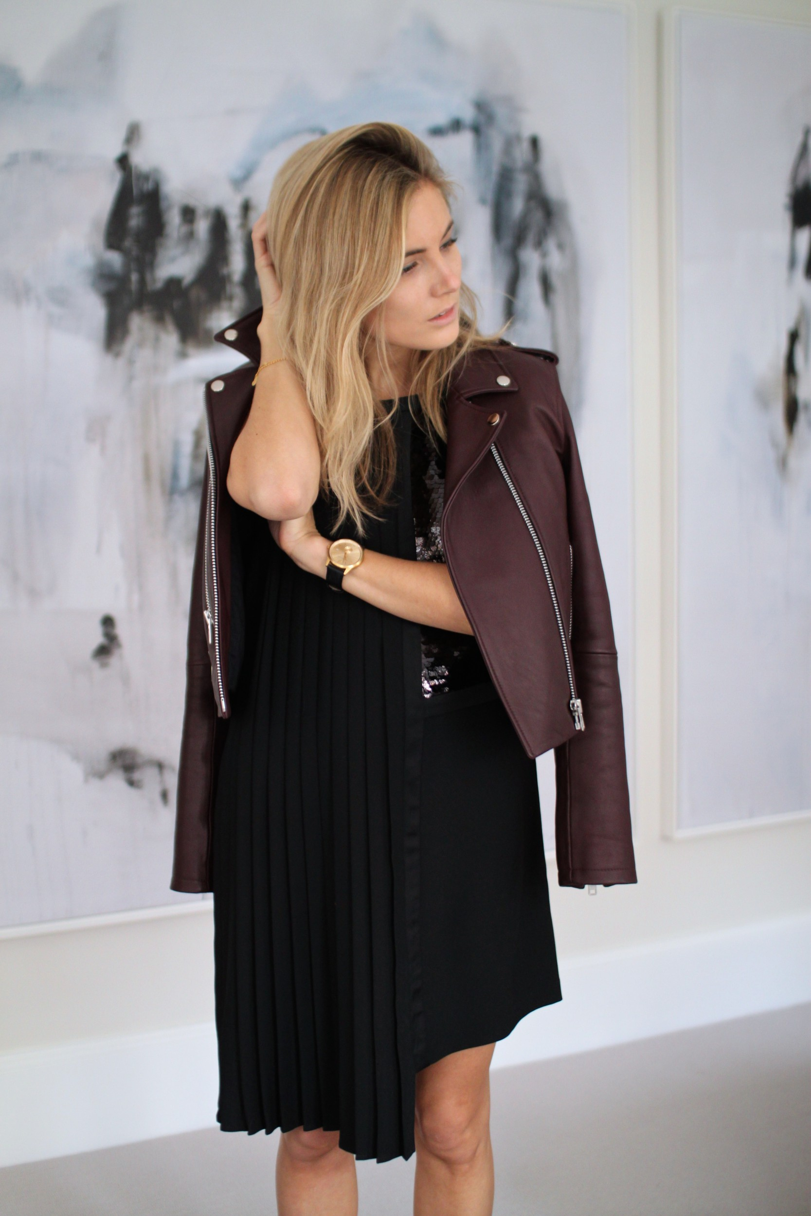 Black Dress Leather Jacket