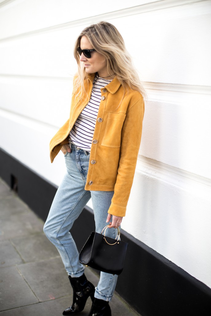Fashion Me Now | Mustard Suede & Stripes_-10
