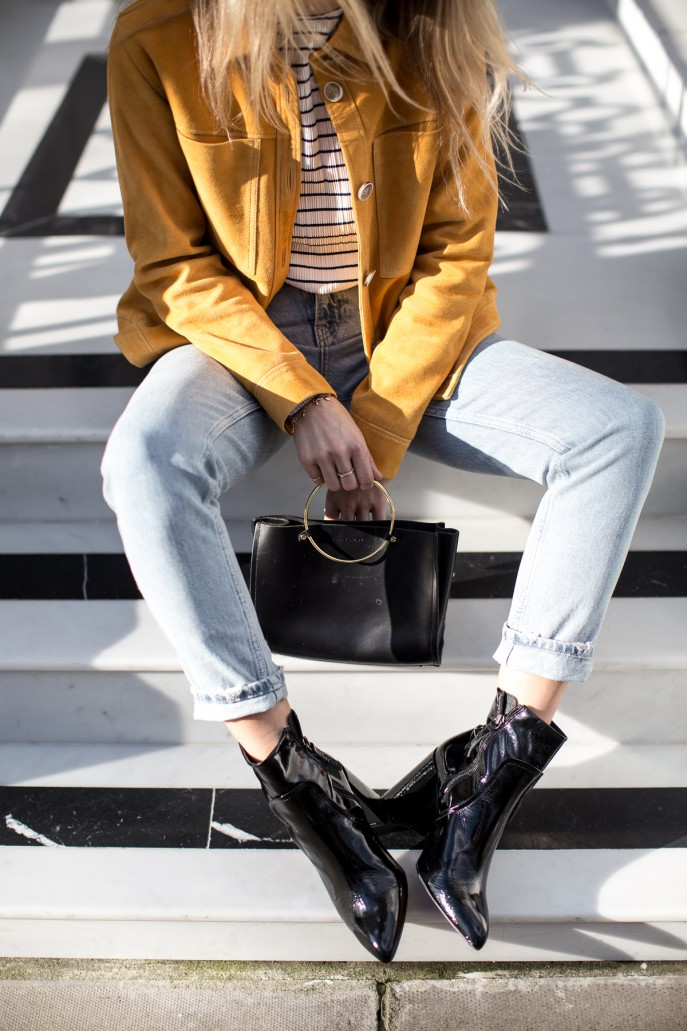 Fashion Me Now | Mustard Suede & Stripes_-3