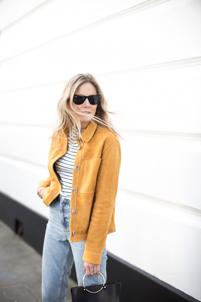 Fashion Me Now | Mustard Suede & Stripes_-8